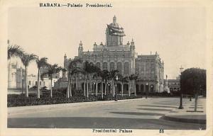 Habana Cuba Presidential Palace Real Photo Postcard