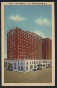 North Carolina colour PC Hotel Robert E Lee Winston-Salem  unused