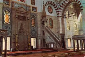 Turkey Istanbul Sulemaniye Camii, Interior of Soliman the Magnificent