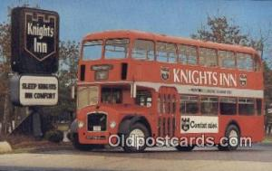 Knights Inn Bristal Double Decker  Postcard Post Card, Carte Postale, Cartoli...