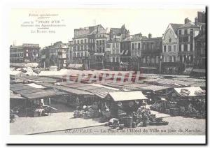 Beauvais Postcard Old Place of & # 39hotel city a day's walk (reproduction)