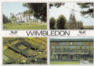 Wimbedon Championship Tennis 1970s DRG Courts Aerial Windmill 4x View Postcard