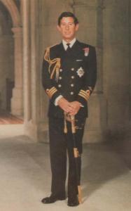 Prince Charles Military Commander Royal Navy Uniform Royal Wedding Postcard