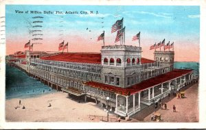 New Jersey Atlantic City View Of Million Dollar Pier 1928