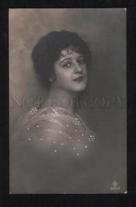 057847 Lovely Lady BELLE vintage PHOTO Tinted