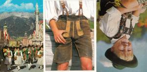 Austria Childrens Cowboy Trousers Fashion 3x Postcard s