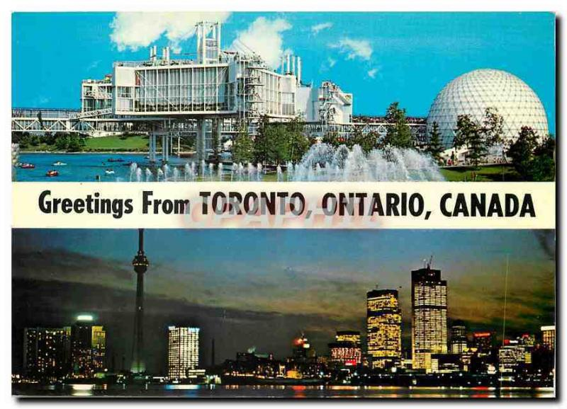 Modern Postcard Greetings from Toronto Ontario Canada