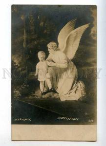 215350 Little Girl & GUARDIAN ANGEL by KAULBACH Vintage PC
