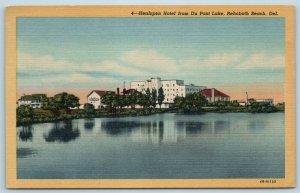 Postcard DE Rehoboth Beach Delaware Henlopen Hotel Du Pont Lake c1950s X5
