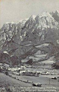 WERFEN GEGEN TENNENGEBIRGE AUSTRIA~EISRIESENWELT-HOHLENEINGANG 1928 POSTCARD