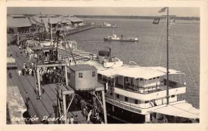 Asuncion Paraguay Port Harbor Real Photo Antique Postcard K69943