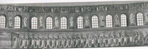 Italy Ravenna Chiesa di San Appollinare Nuovo Interior Triple Card