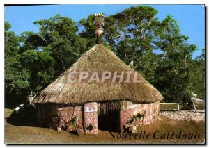 Postcard Modern New Caledonia Case Melanesian has Bourail