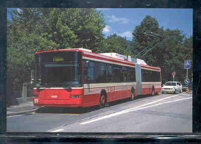 Trolley Bus Biel Switzerand, unused