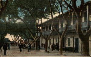 Ismailia Egypt Main St. c1910 Postcard