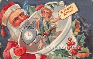 Santa Claus Postcard Old Vintage Christmas Post Card Santa Claus Christmas, P...