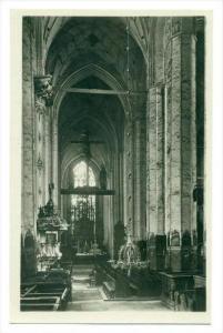 RP  Die Marienkirche in DANZIG, Poland 1910-30s: Mittelschiff nach Osten
