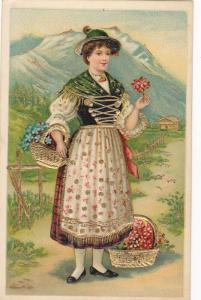 Alps Girl , Switzerland , 1910