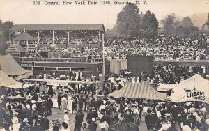 Oneonta NY Central NY Fair Ice Cream Cones RPPC Real Photo Postcard