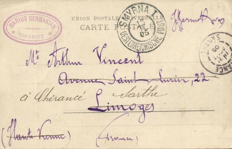 ottoman turkey, SMYRNE SMYRNA, La Douane, Customs (1905) Postcard