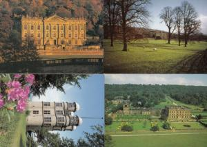 Chatsworth House Bakewell Hunting Tower Sheep Gardens 4x Postcard s