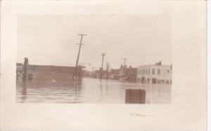 Street Scene Flood Real Photo