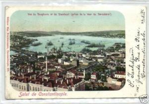 turkey CONSTANTINOPLE, Panorama Bosphorus Stamboul 1901