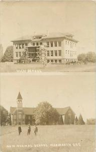 1912 RPPC of High School and Normal School, Monmouth, Oregon, OR One postcard