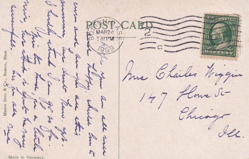 BOSTON, Massachussetts, PU-1909; The Range Lights