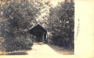 East Swanzey NH Covered Bridge Real Photo Postcard