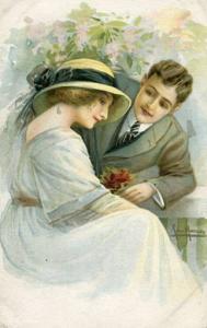 Romantic Couple         Artist Signed:  Jan Marcos