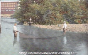 FRANKLIN, New Hampshire; Fishing in the Winnepesaukee River, 00-10s