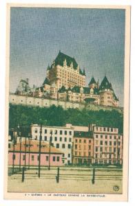 Quebec Postcard Chateau Domine La Basse-Ville ca 1948