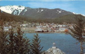 Douglas Alaska~View Across Gastinau Channel~New High School~1968 Postcard