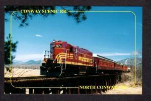 NH North Conway Scenic Railroad Train Moat Brook Trestle New Hampshire Postcard