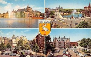 Netherlands Den Haag, Bridge Tram Cars Voitures Auto Statue