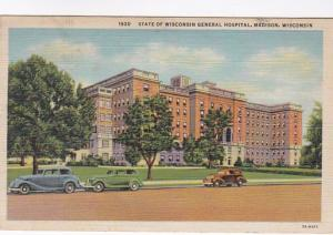 Wisconsin Madison State Of Wisconsin General Hospital 1942 Curteich