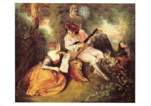 Art Postcard, The Scale of Love (La Gamme d'Amour) by Jean-Antoine Watteau EX9