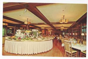 Bear Mountain Inn NY Buffet in the Round Interior Restaurant