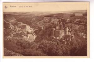 Sepia, Chateau et Ville Basse, Vianden, Belgium, Nels