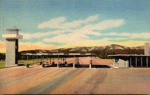 New Mexico Entrance To Los Alamos Curteich