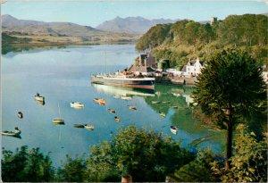 Isle of Skye Portree Harbour & Cuillin Hills WS Thomson Unused Postcard C4