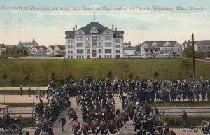 WINNIPEG, Manitoba, Canada, PU-1913; University of Manitoba, showing 79th Cam...