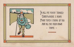 Life's Garden Hill Of Flowers Clown 4x Songcard Proverb Postcard s