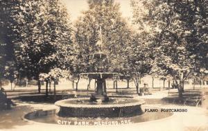 MEDFORD, OREGON CITY PARK RPPC REAL PHOTO POSTCARD