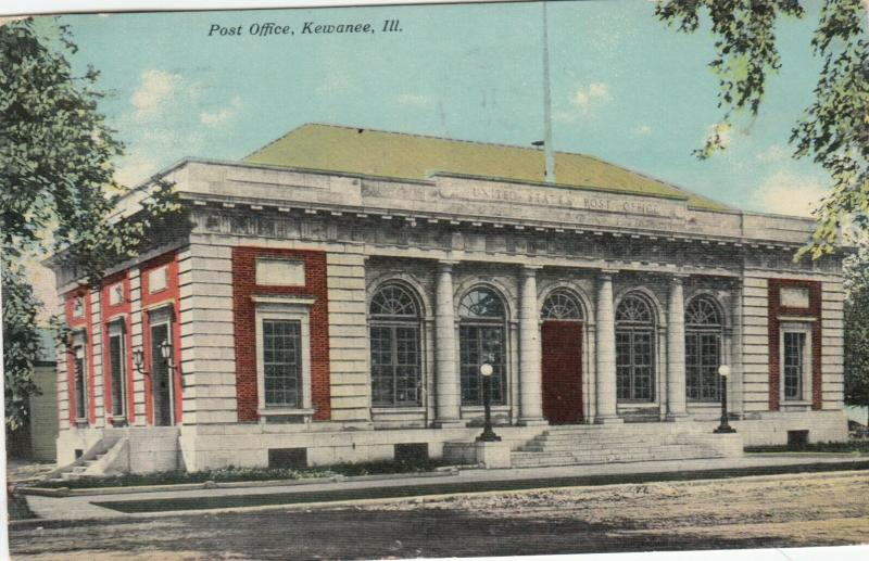 KEWANEE, Illinois, PU-1911; Post Office