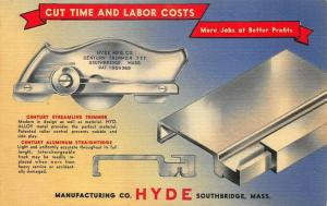South Bridge MA Hyde Trimmer Tools Advertising Linen Postcard