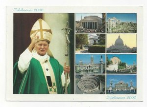 ROME, Italy, PU-2000; Holy Year, Pope John Paul II and 8 Views Historical Sites