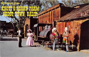 Knott's Berry Farm, Buena Park, California, CA, USA Postcard Old Betsy U...