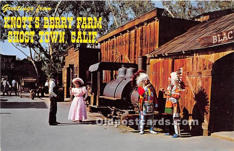 Knott's Berry Farm, Buena Park, California, CA, USA Postcard Knott's Berry Fa...